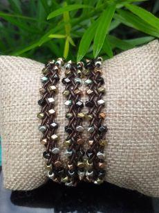 JWB101 Thailand Handmade Stone Bead String Metal Bracelet