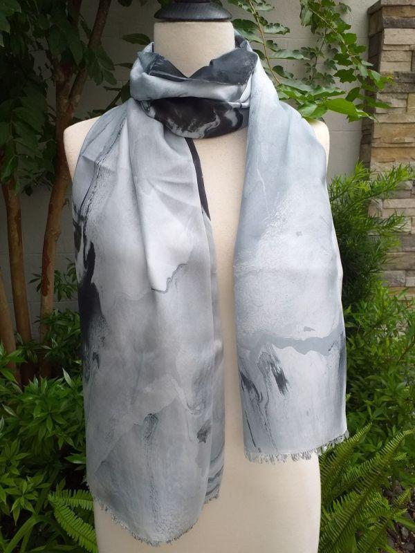 KOD654a 100 Silk Hand Dye Shawl Scarf