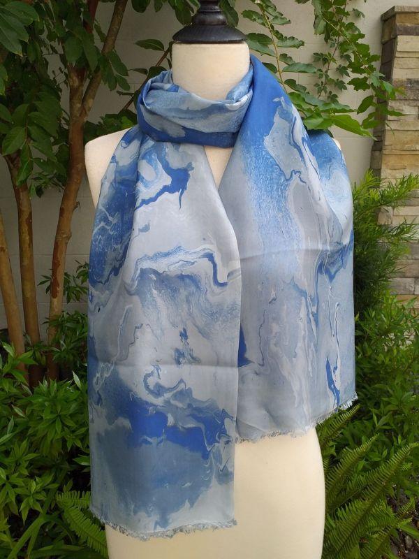 KOD658a 100 Silk Hand Dye Shawl Scarf