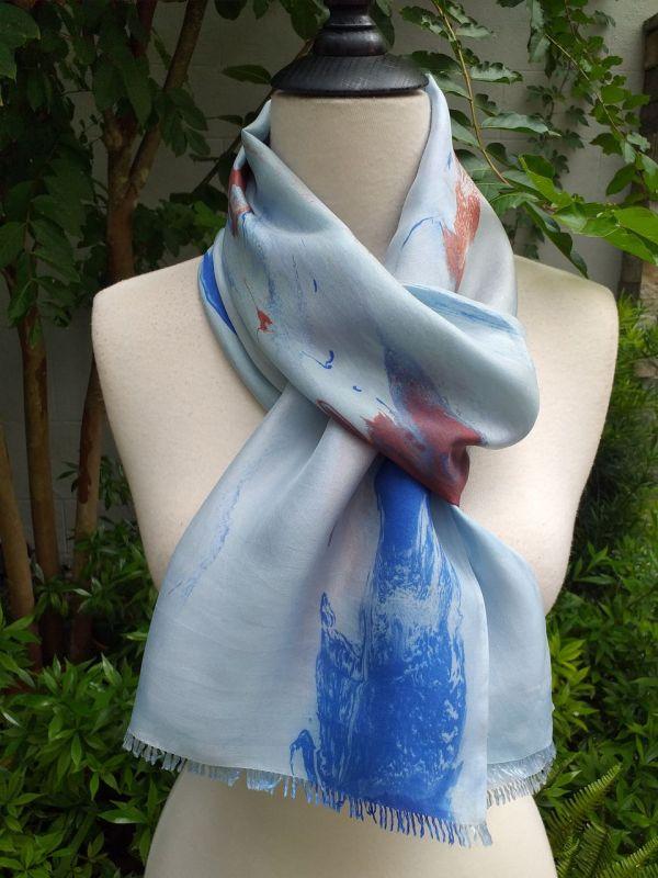 KOD951b 100 Silk Hand Dye Shawl Scarf