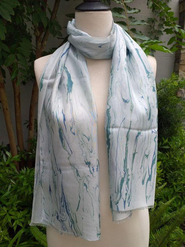 KOD953a 100 Silk Hand Dye Shawl Scarf