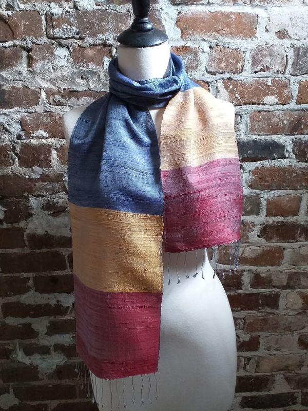 NDC022D SEAsTra Handwoven Silk Scarves