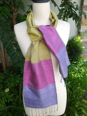 NDC740d Thai Silk Hand Spun Stylish Scarf
