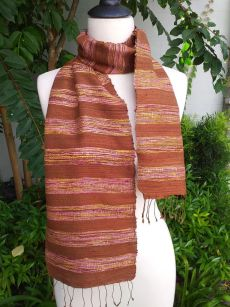 NFC567b Thai Silk Hand Dyed Striking Scarf