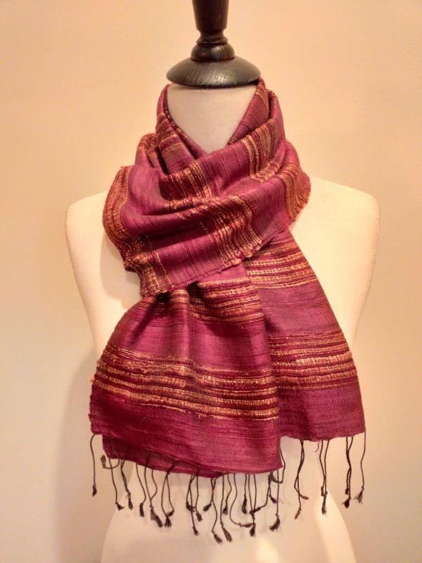 NFD039D SEAsTra Handwoven Silk scarf