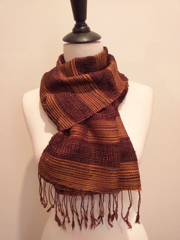 NFD189D SEAsTra Handwoven Silk scarf