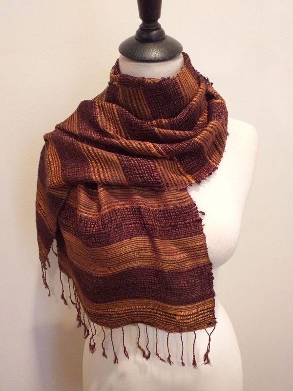 NFD189E SEAsTra Handwoven Silk scarf