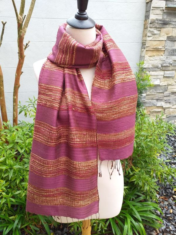 NFS039E SEAsTra Handwoven Silk Scarves