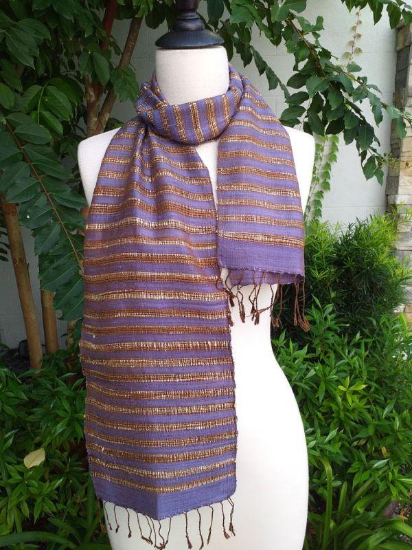 NNC005b Thai Silk Hand Dyed Striking Scarf