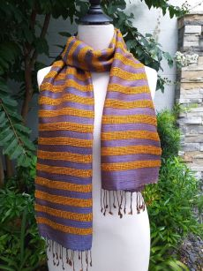 NND450a Thai Silk Hand Woven Colorful Scarf