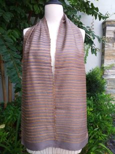 NSC405a Thai Silk Hand Woven Colorful Scarf