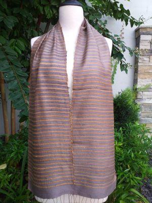 NSC405a Thai Silk Hand Woven Colorful Scarf