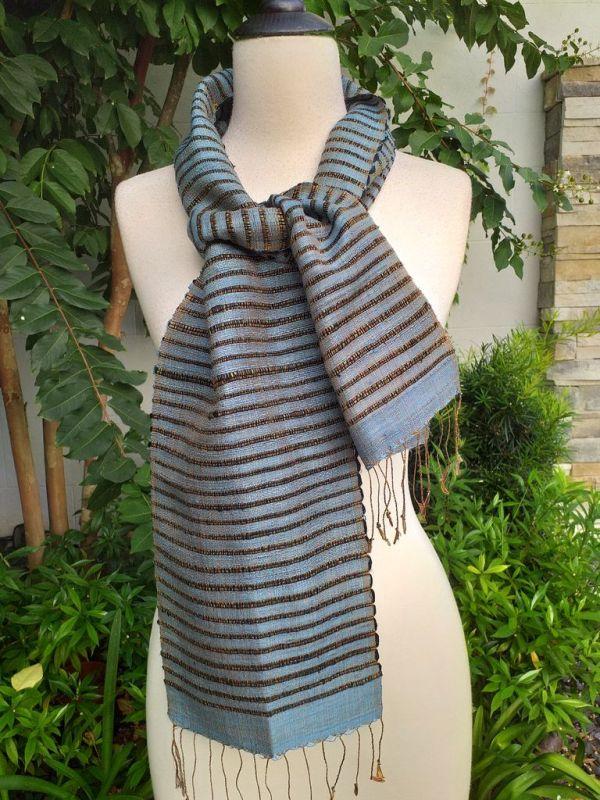 NSC522d Thai Silk Hand Spun Stylish Scarf