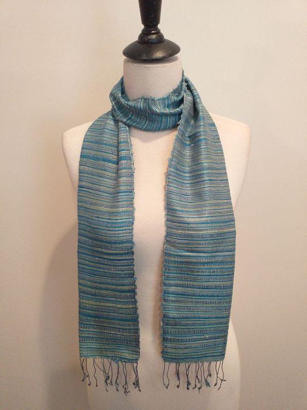 NSC555C SEAsTra Handwoven Silk scarf