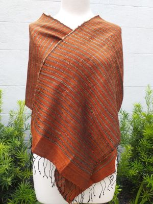 NSD008d Thai Silk Hand Spun Stylish Scarf