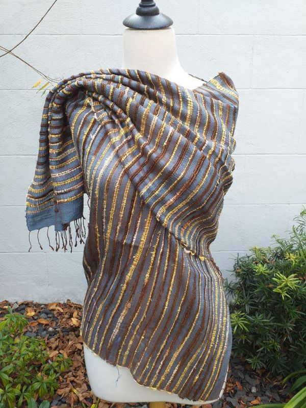 NSS002E SEAsTra Fair Trade Silk Scarf