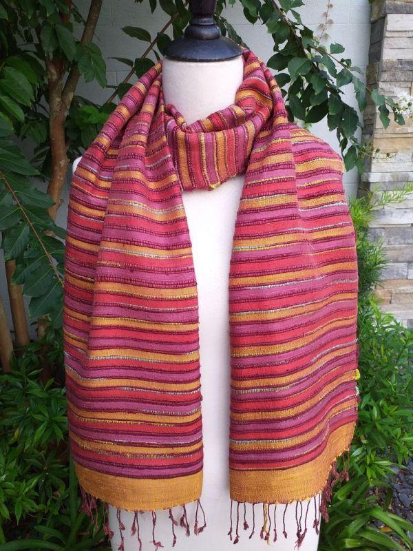 NSS203b Thai Silk Hand Dyed Striking Shawl