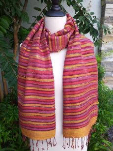 NSS203b Thai Silk Hand Dyed Striking Shawl