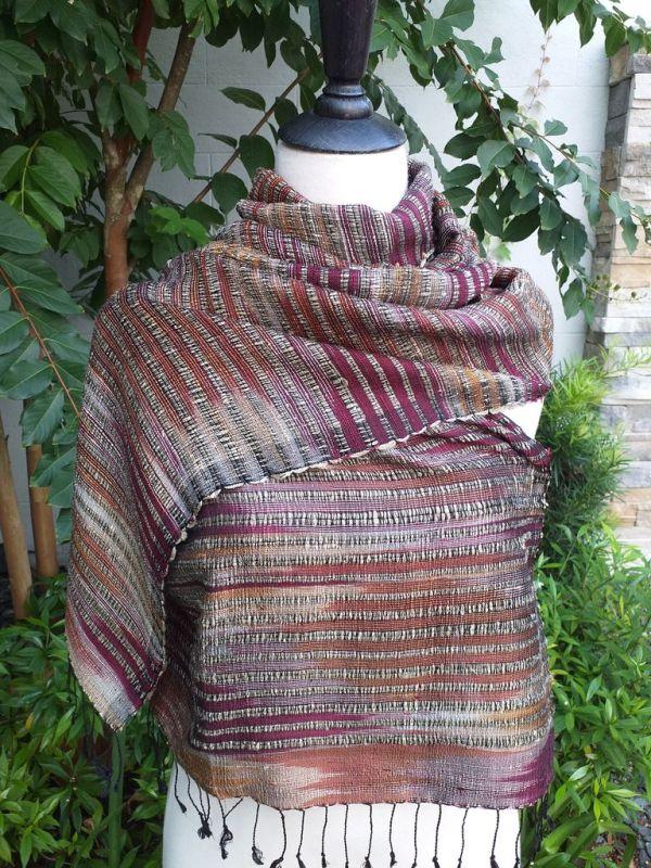 NSS631e Thai Silk Hand Made Stylish Shawl