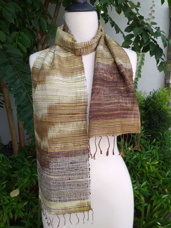 NTC075b Thai Silk Hand Dyed Striking Scarf