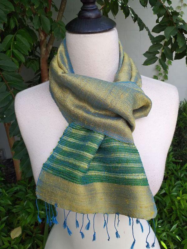 NTC077c Thai Silk Hand Wash Elegant Scarf