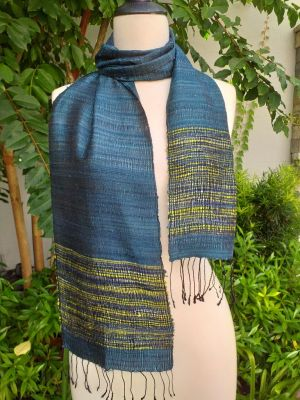 NTC324b Thai Silk Hand Dyed Striking Scarf