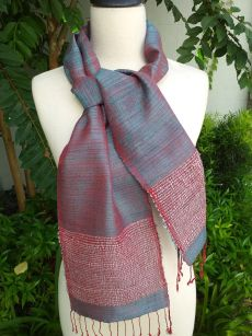 NTC432d Thai Silk Hand Spun Stylish Scarf