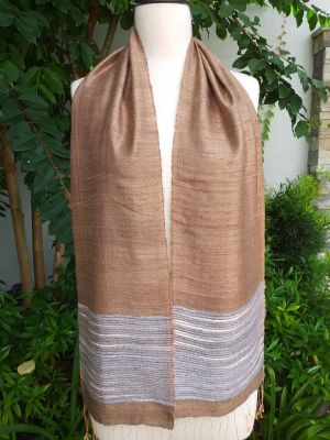 NTC959a Thai Silk Hand Woven Colorful Scarf