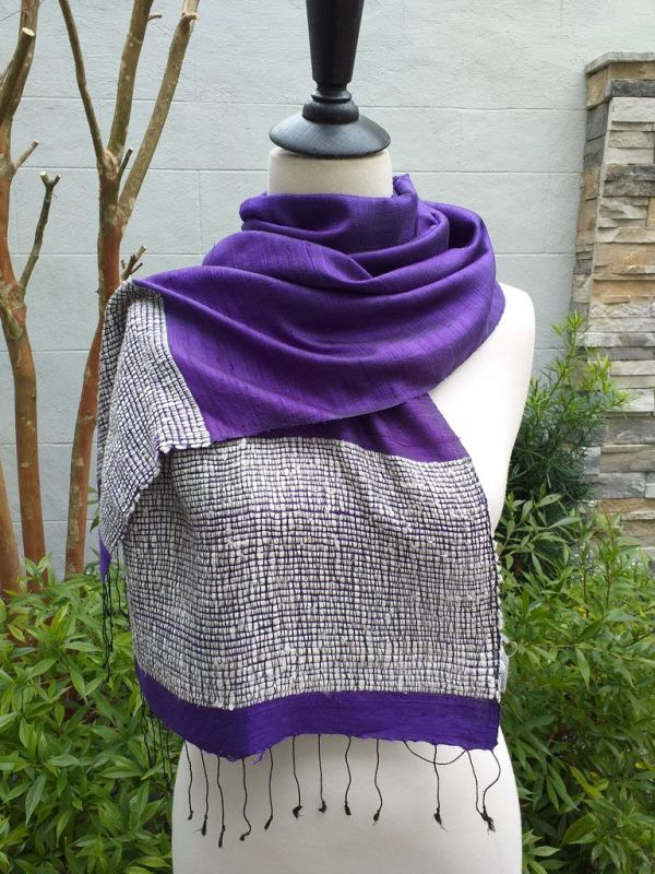NTD902A SEAsTra Handwoven Silk Scarves