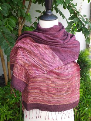 NTS024e Thai Silk Hand Made Stylish Shawl