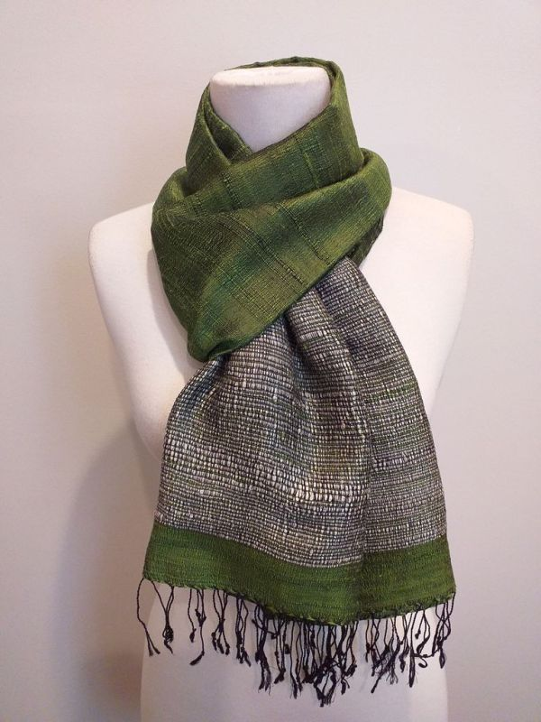 NTS551D SEAsTra Handwoven Silk Scarf