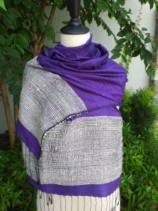 NTS902e Thai Silk Hand Made Stylish Shawl