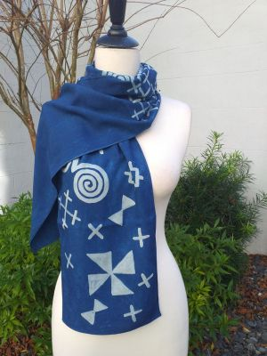 PYC053C 100 Natural Rayon Fiber Hand Painted Scarf