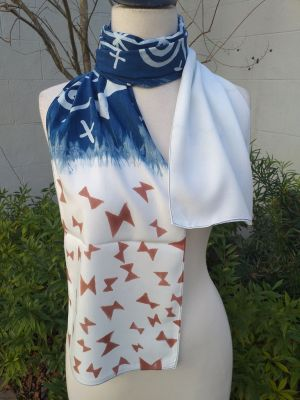 PYC058A 100 Natural Rayon Fiber Hand Painted Scarf