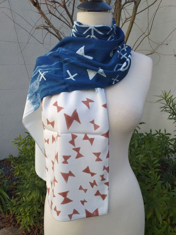 PYC058C 100 Natural Rayon Fiber Hand Painted Scarf