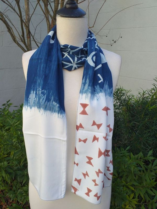 PYC058D 100 Natural Rayon Fiber Hand Painted Scarf