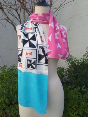 PYC069A Original Designs Hand Painted Skinny Scarf