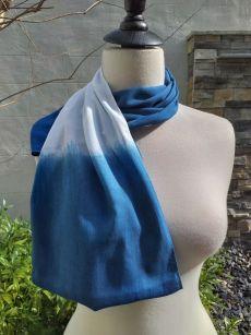 WEI784D Rayon Indigo Tie Dye Infinity Scarf