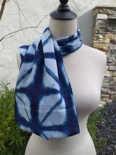 WEI825D Rayon Indigo Tie Dye Infinity Scarf