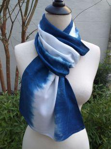 WES826D Rayon Indigo Tie Dye Scarves
