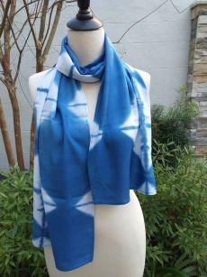 WES830A Rayon Indigo Tie Dye Scarves