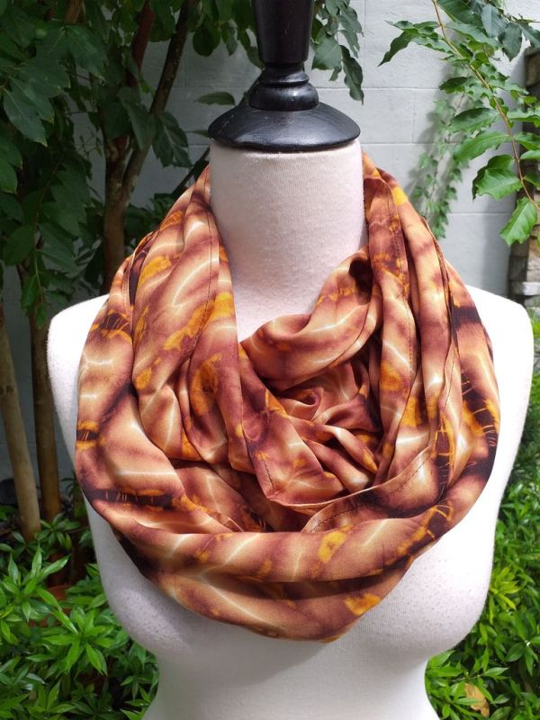 XCI973b Bright Color TieDye Rayon Infinity Scarf
