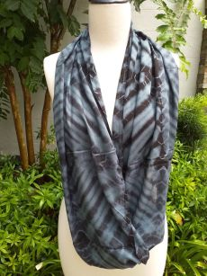 XDI655a Bright Color TieDye Rayon Infinity Scarf