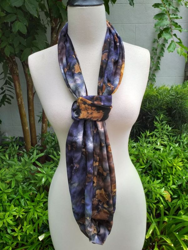 XDI667d Bright Color TieDye Rayon Infinity Scarf