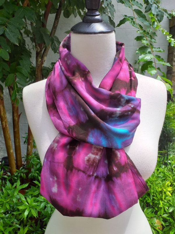 XDI670c Bright Color TieDye Rayon Infinity Scarf