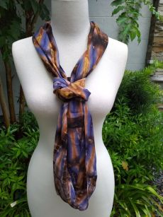 XDI776d Bright Color TieDye Rayon Infinity Scarf
