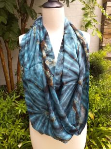 XDI835a Bright Color TieDye Rayon Infinity Scarf
