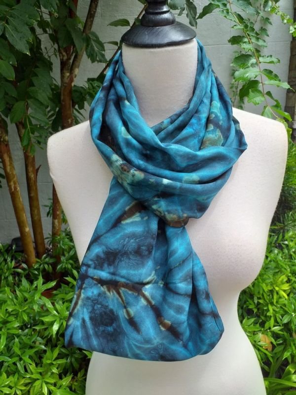 XDI835c Bright Color TieDye Rayon Infinity Scarf