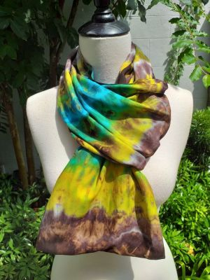 XDI856c Bright Color TieDye Rayon Infinity Scarf