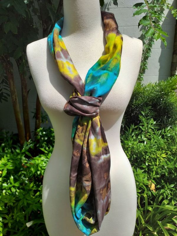 XDI856d Bright Color TieDye Rayon Infinity Scarf